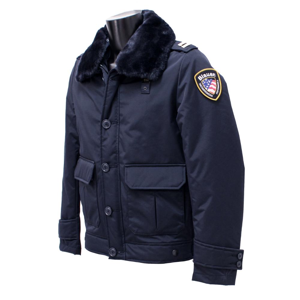 blauer giubbotto poliziotto