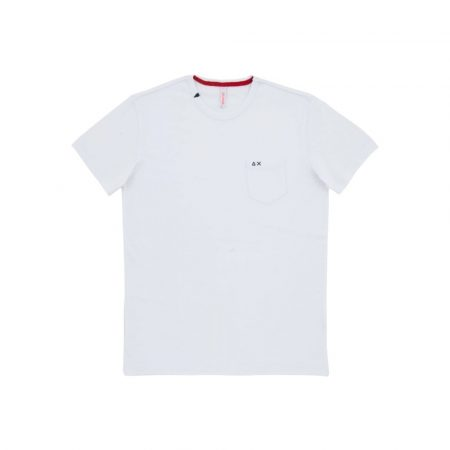 T-SHIRT ROUND SOLID POCKET SS